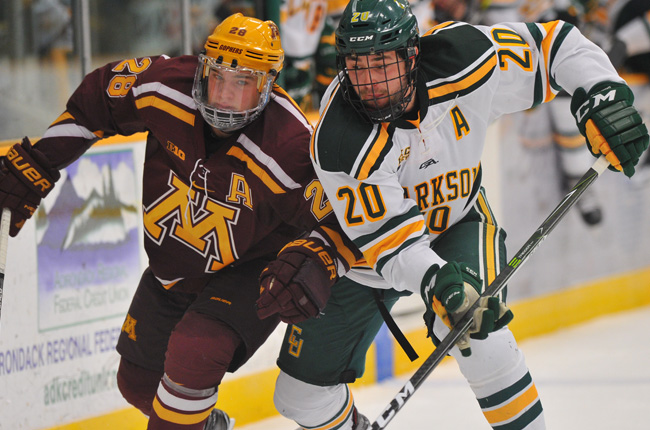 NCAA: Minnesota Rallies From Three-goal Hole To Dump Clarkson In Overtime