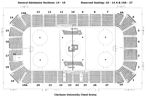 Cheel Arena Seating Chart Clarkson University Athletics