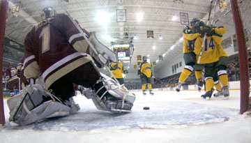 knights resume ecac hockey play with trip to new england clarkson