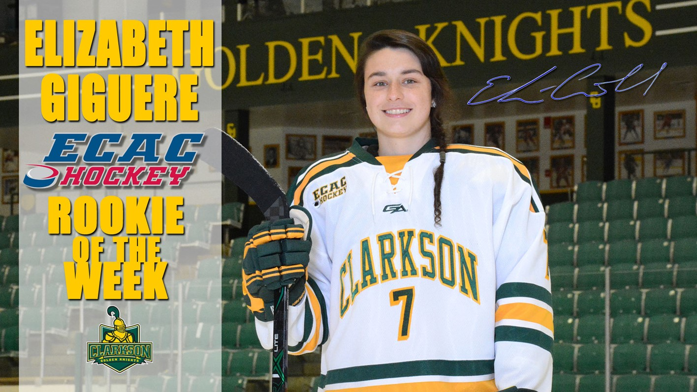giguere adds another ecac hockey weekly award to her resume