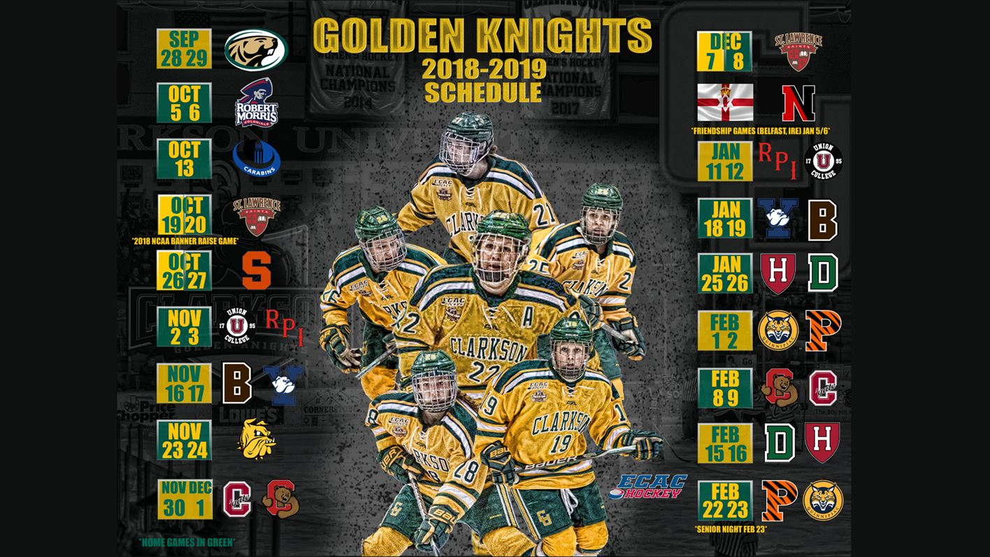 Defending National Champions Announce 2018 19 Schedule Clarkson